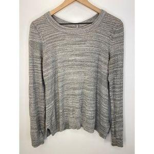 Anthropologie Crew Neck Long Sleeve Sweater Gray